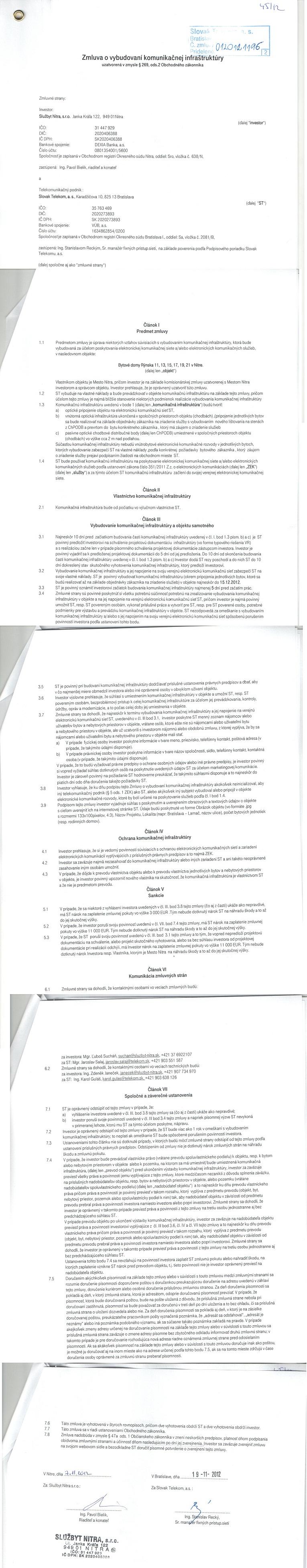Zmluvy 2012