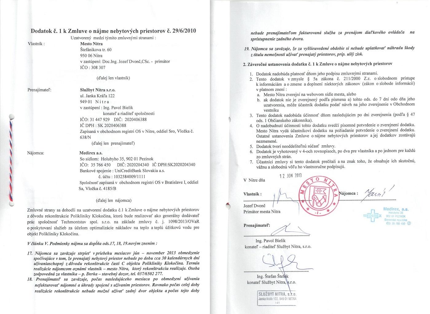 Zmluvy 2013